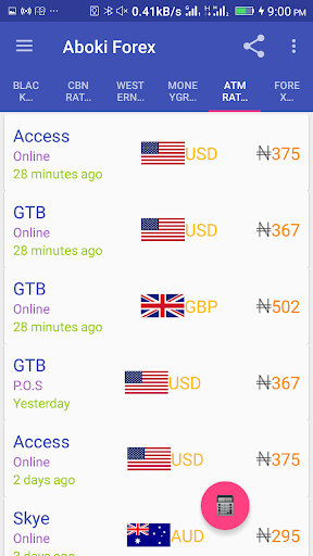 Aboki Forex - Currency Converter & Rate Calculator ss3