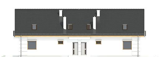 Nowinka III z garażem 1-st. bliźniak A-BL1 - Elewacja tylna