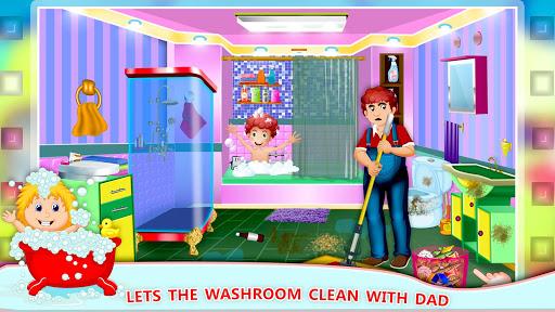 Elsa Home Cleaning Gamesu2013 Garage Dust Clean Up- apktram screenshots 11