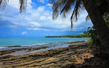 Photo: Allez, la plaidoirie finie nous revenons vers Basse-Terre par la côte. Celle-ci compte peu de plages, et il n'y a pas toujours de sable et d'endroit pour se baigner, mais cela n'enlève rien à leur charme.