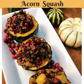 Cranberry & Rice Stuffed Acorn Squash