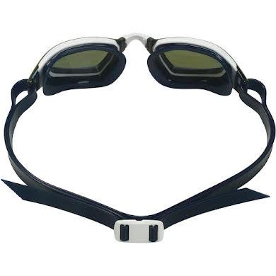 Michael Phelps Xceed Goggles - White/Black with Blue Titanium Mirror Lens