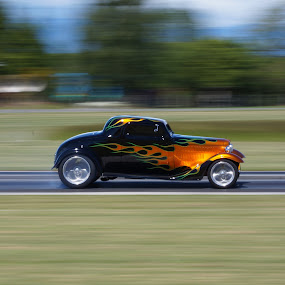 Race car by Aram Becker - Sports & Fitness Motorsports ( car, panning, blurr, racecar, fast, hot rod, race, flame )