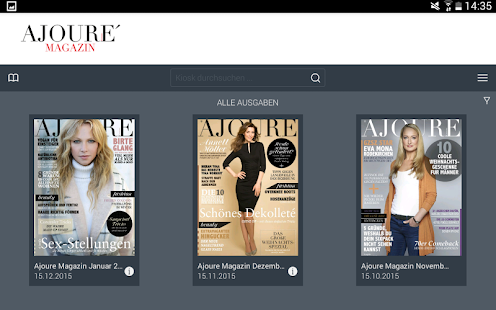AJOURE´ Magazin- screenshot thumbnail