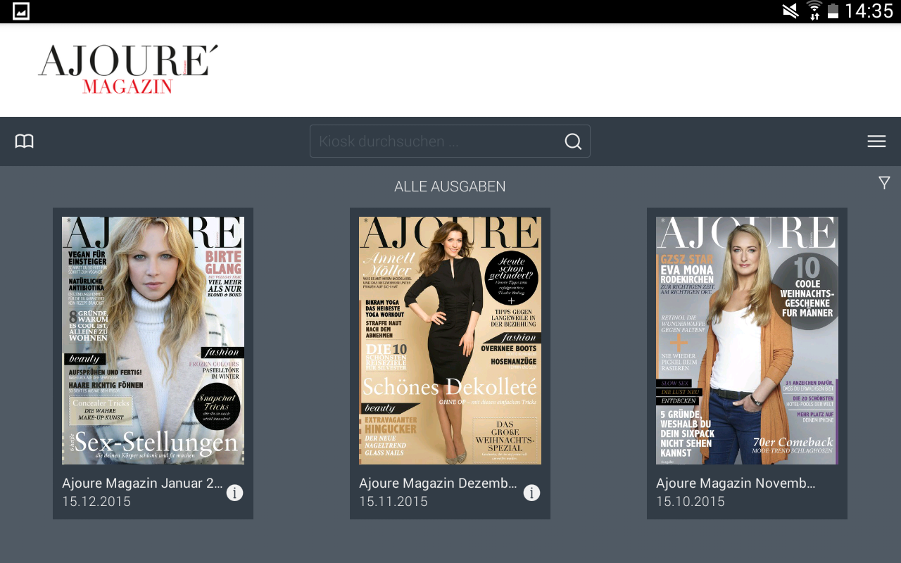 AJOURE´ Magazin- screenshot