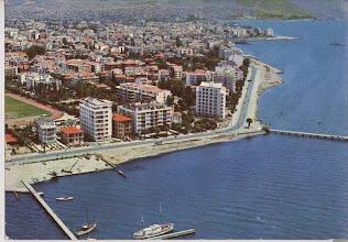 Photo: Soldaki yeşil alan Karşıyaka Stadı.