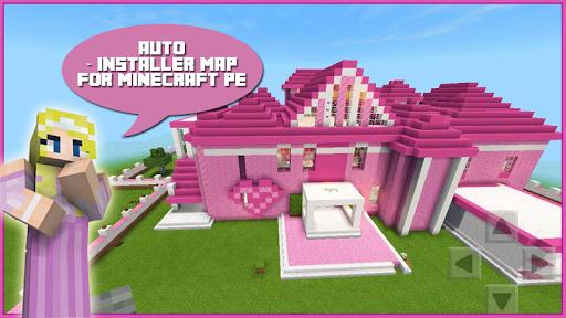 Map Pink Princess House for MCPE Apk 2