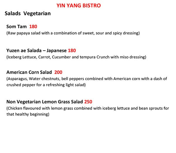 Yin Yang Bistro menu 11