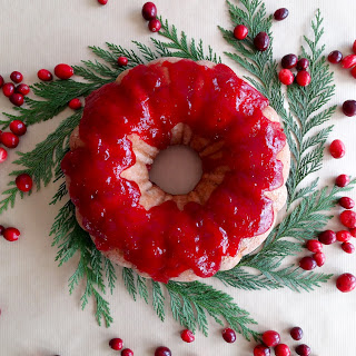 Cranberry Brandy Holiday Bundt Cake – Vegan