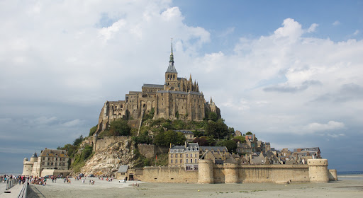 Mont Ste. Michel from the coastal shore.