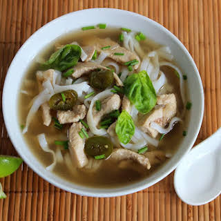 Chinese Five Spice Chicken Noodle Soup.