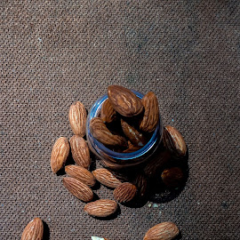 Almond by Säptárshi Mondal - Food & Drink Eating ( #creative #almond #nuts #mobile #creative #art )