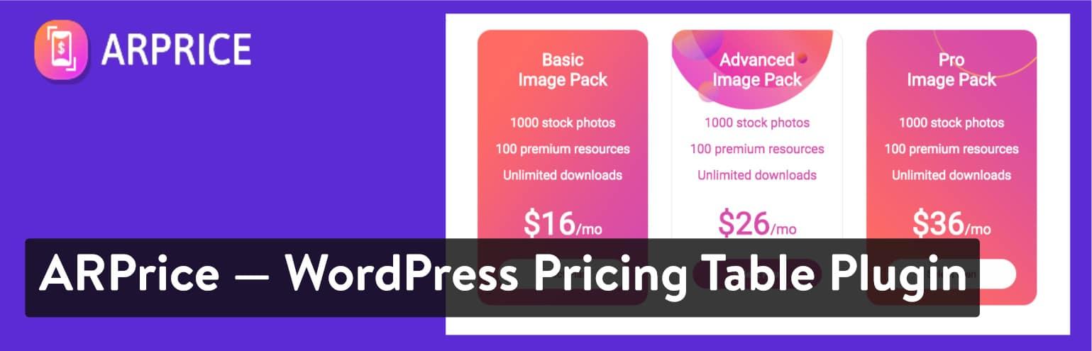 ARprice - Plugin Bảng giá WordPress