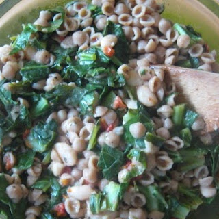 Whole Grain Pasta with Beans, Greens, and Sun-Dried Tomatoes Recipe