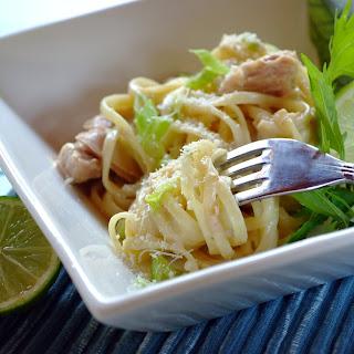 Spaghetti in Limettensauce mit Huhn