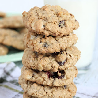 Cranberry, Walnut & White Chocolate Oatmeal Cookies
