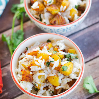 Jasmine Rice with Plantains & Cilantro
