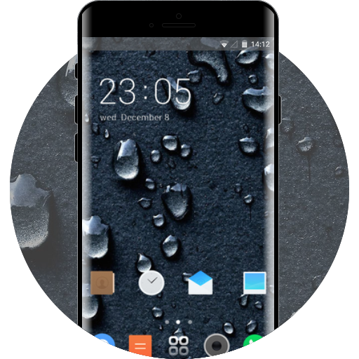 App Insights: Abstract theme drops of rain blue nature