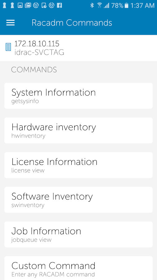 OpenManage Mobile- screenshot