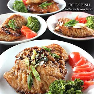 Rock Fish in Butter Ponzu Sauce.