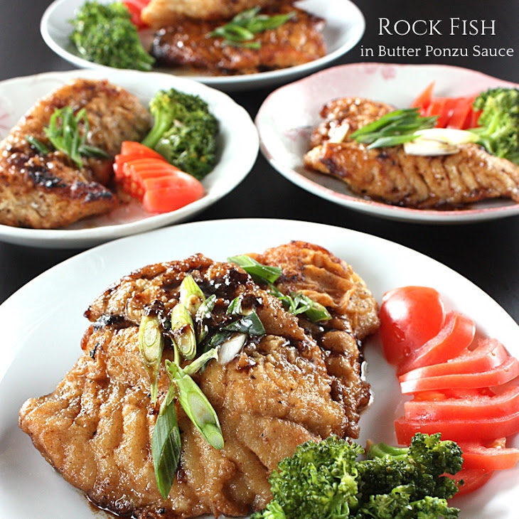 Rock Fish in Butter Ponzu Sauce Recipe