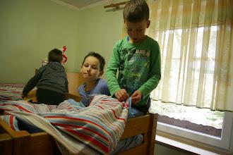 Photo: Prihod v dom in postiljanje sob