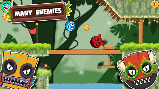 Télécharger Bounce Ball 4 Love and Red Roller Ball 3 - Ball 4 mod apk screenshots 4
