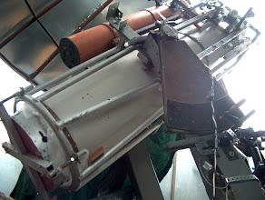 Photo: 40cm:n f/5 newton ja sen päälle asennettu 15 cm:n f/8 newton käyttövalmiina