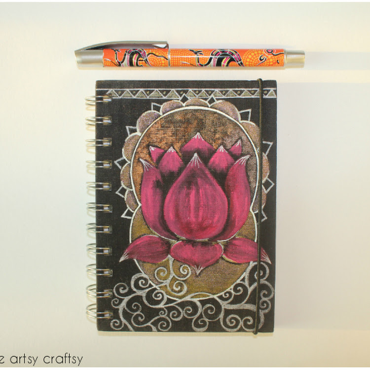 Pink Lotus - A5 Notebook by The Artsy Craftsy
