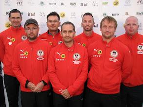 Photo: Austria. Manfred Lindmayr, Rupert Westenthaler, Christian Bobetz, Heinz Weber, Günter Inmann, Andreas Lackner and Herbert Ziegler. (Photo: Bengt Svensson)
