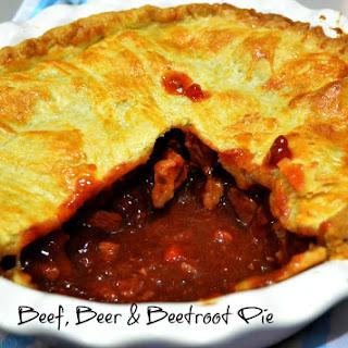 Beef, Beer & Beetroot Pie