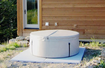 Photo: Attached, please see photos of my newly-installed EZ Pad.  I think it's going to work well as a temporary pad for a Softub at the Montana cabin where I'll be spending the next few months.  Thanks for a high-quality solution.  D.H. Bozeman, MT