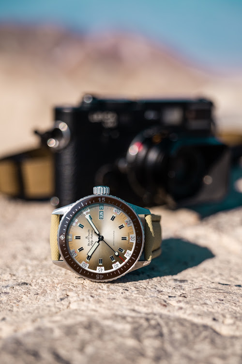 The Bathyscaphe Day Date Desert Edition.