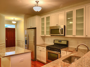 Photo: The kitchen in our Greyledge Estates model townhome.