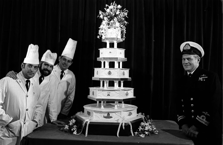 The official cake for Prince Charles and Diana Spencer's 1981 wedding was made by the Royal Navy's cookery school.