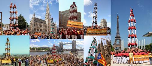 Photo: POLITICA   imatge final dels castells realitzats a les diferents capitals europees i de Barcelona en la reivindicació   #catalanswanttovote
