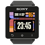 LCARS inspired clock Sony SW2 Icon