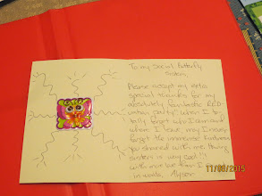 Photo: card to all the SB and RH sistersfrom Alyson