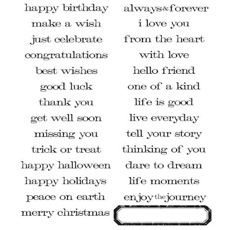 Tim Holtz Cling Stamps 7X8.5 -  Simple Sayings