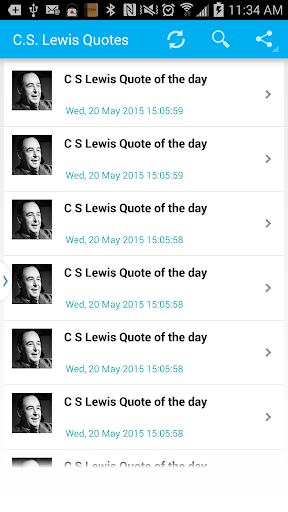 C S Lewis Quote of the day