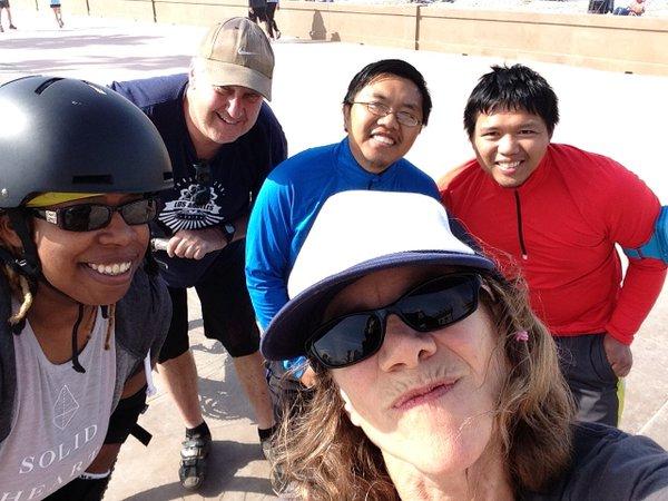 run, skate, bike at sandcamp