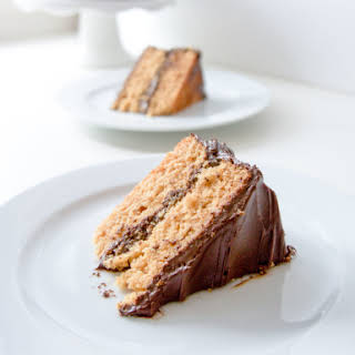 Graham Cracker Cake with Chocolate Frosting.