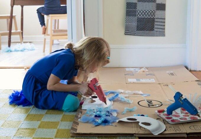 girl making costume