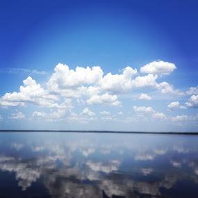 Lake Reflections by Tyler Landgraf - Instagram & Mobile Instagram ( clouds, florida, lake, scenery, sun )