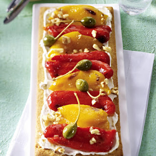 Goat Cheese and Roasted Pepper Tart