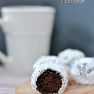 Chocolate Powdered Sugar Donut Holes.