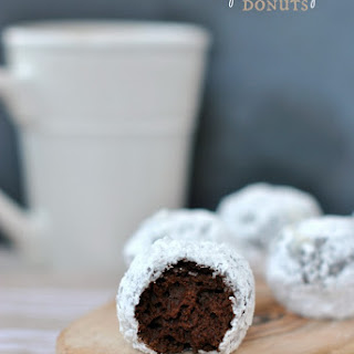 Chocolate Powdered Sugar Donut Holes.