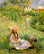 """Photo: Pierre Auguste Renoir, """"Ragazza in giardino a Mezy"""""""