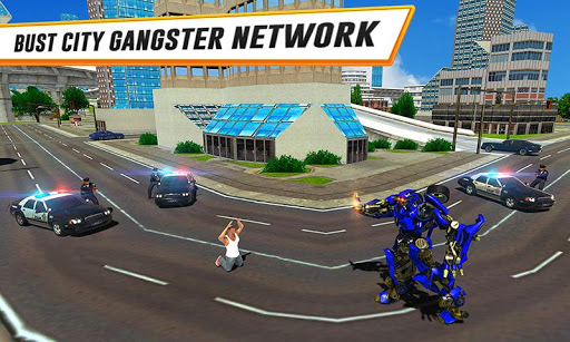 US Police Car Real Robot Transform: Robot Car Game 163 screenshots 2