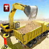 Uphill City Construction Crane : Road Builder 3D